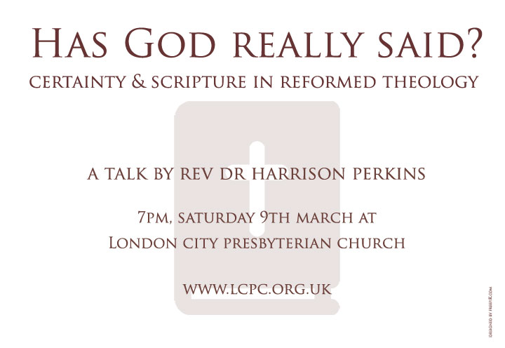 Flyer for Doctrine of Scripture event